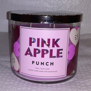 Pink Apple Punch Candle - 3 wick scented candle